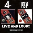 cd: 4-SKINS / INFA RIOT: Live And Loud!!